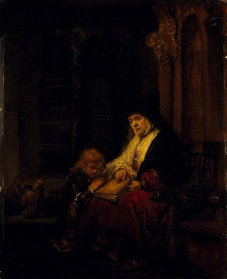 Hannah and Samuel - Rembrandt van Rijn / SCOTTISH NATIONAL GALLERY
