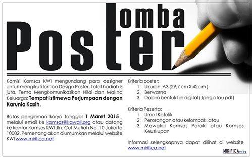 Poster Lomba / Dok RD Kamilus Pantus
