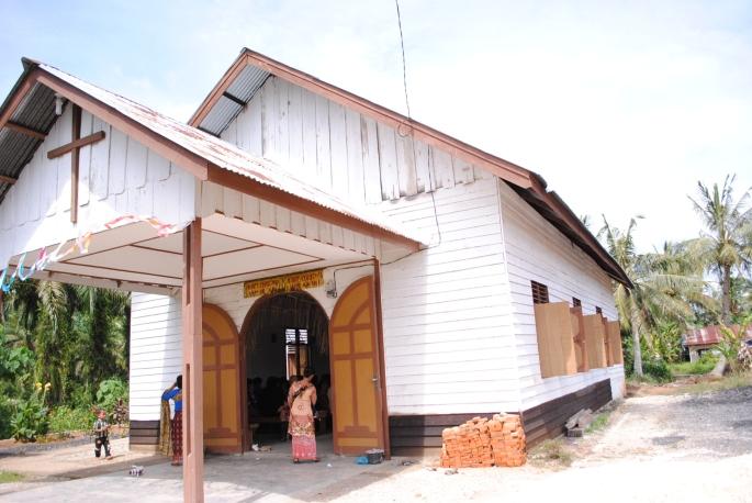Gereja stasi St Laurentius Sukaramai / Dok Admin