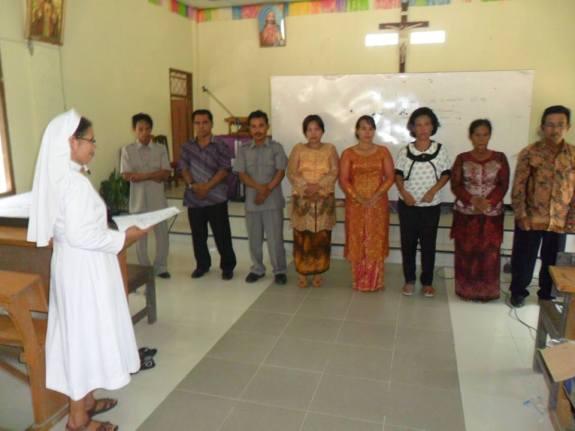 Pengurus terpilih : Dok. Sr Leonisia FCJM