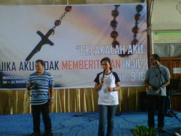 Celakalah aku jika aku tidak memberitakan Injil / Foto Alvon Simamarta Paroki Perawang