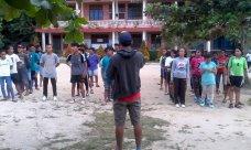 Seleksi Peserta Lomba Bola Voli wilayah 3 dan 4 OMK St.Paulus Pekanbaru menuju Temu OMK Rawil Riau Daratan - Foto OMK St Paulus